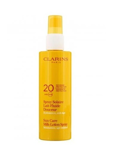 Clarins Clarins Sun Care Milk Lotion Spray SPF20 Güneş Koruma Vücut Losyonu 150ML Renkli